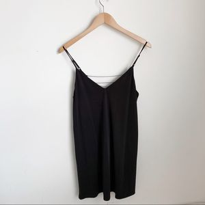 Black camisole dress with chain detail